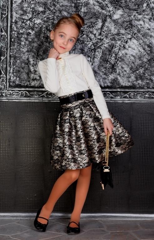 Пышная юбка из гипюра для девочки