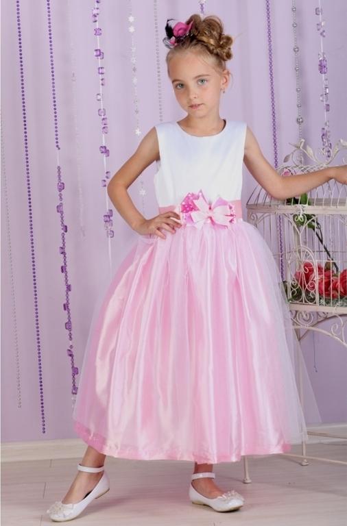 Воздушное платье Зефир розовое